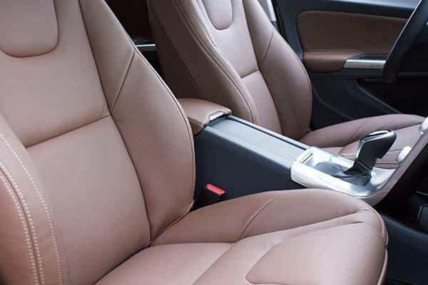 Volvo V60 Buffalino Leder Nougat Bruin Detail