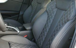 Audi A4 S-Line Buffalino leder Zwart Diamond Stiksel Wit Voorstoelen