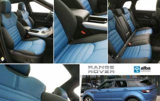 Range Rover Evoque, Alba nappa zwart buffalino blauw compilatiefoto