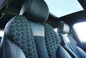 Audi A3 Ambition Nappa leder Alcantara Honingraad patroon S-line logo zilvergrijs stiksel