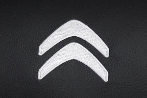 Borduring Logo Citroen Wit Stiksel
