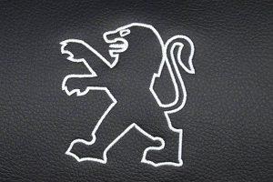 Borduring Logo Peugeot Wit Stiksel