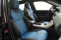 Range Rover Evoque, Alba nappa zwart en buffalino blauw voorstoelen
