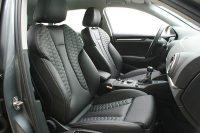 Audi A3 Sportback, Alba buffalino leder zwart met honingraat patroon voorstoelen
