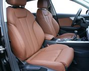 Audi A4, Alba Nappa Leder Kaneel Bruin voorstoelen