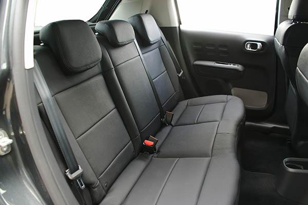 Citroen C3, Alba eco-leather Zwart voorstoelen achterbank