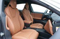 Tesla Model S 100D, Alba Nappa Cognac Diamond voorstoelen
