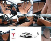 Opvallendste interieur Tesla Model S 100D, Alba Cognac nappa leder