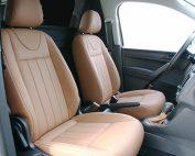 Volkswagen Caddy, Alba Buffalino Leder Truffel Bruin voorstoelen