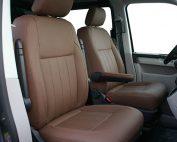 Volkswagen Transporter T6, Alba Buffalino Leder Nougat Bruin voorstoelen