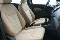 Ford Ka+, Alba Buffalino Leder Beige en eco-suède middenbanen voorstoelen