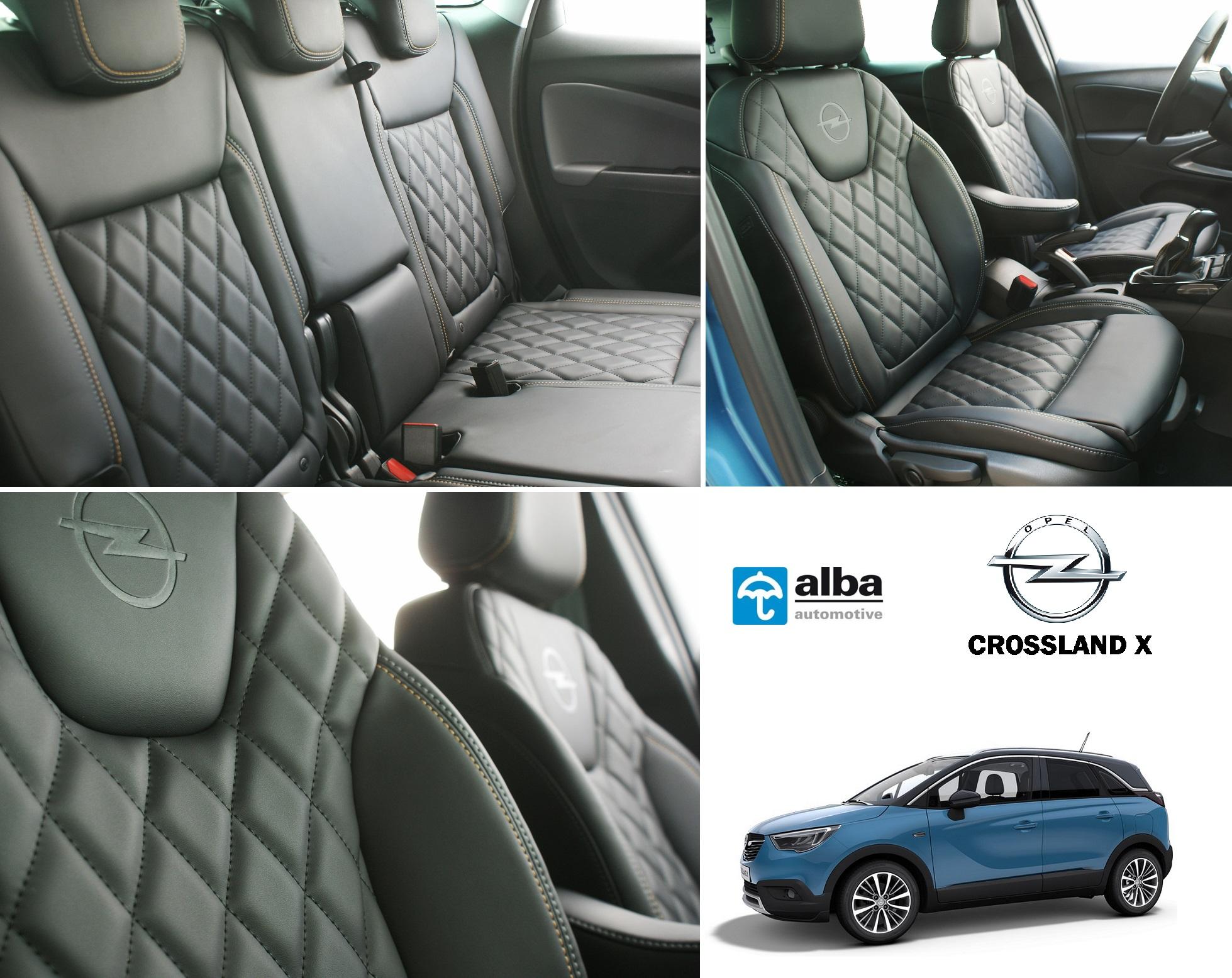 Opel crossland x alba eco-nappa zwart