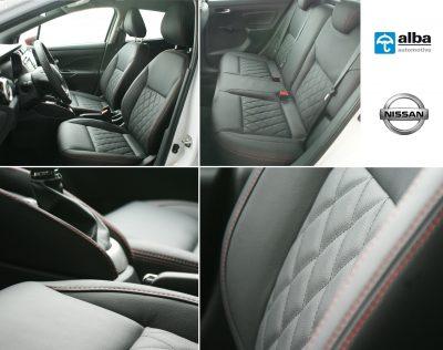 Nissan Micra 2017 Compilatiefoto Alba interieur eco-leather zwart leder
