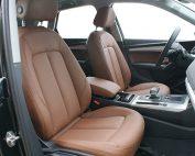 Audi Q5, Alba Kaneel Bruin Nappa Leder Voorstoelen