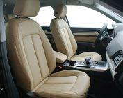 Audi Q5, Alba Buffalino Samt Beige Leder Voorstoelen