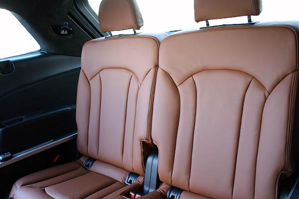 Audi SQ7, Alba Origineel Audi Nappa Leder Valcona Cognac derde zitrij