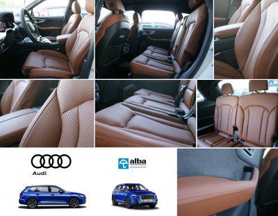 Audi SQ7 Alba Valcona Cognac Nappa Leder inbouw