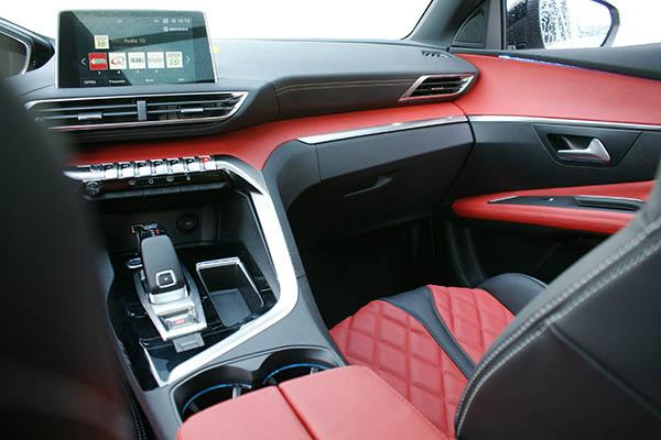 Peugeot 3008 Alba Buffalino Leder Zwart Rood Dashboard