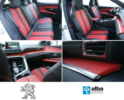 Peugeot 3008 Alba Rood Zwart Buffalino Leder interieur compilatiefoto