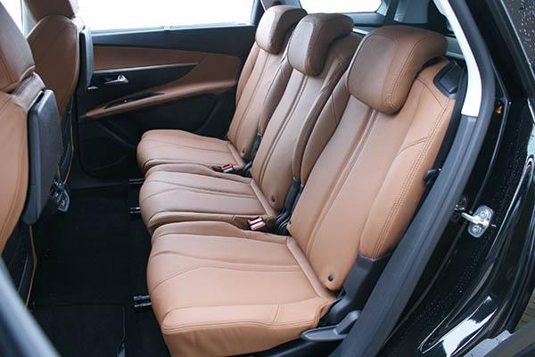 Peugeot 5008, Alba Buffalino Leder Truffelbruin Achterstoelen
