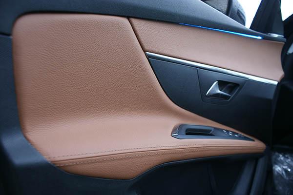 Peugeot 5008, Alba Buffalino Leder Truffelbruin Deurpanelen