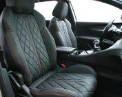 Peugeot 5008 Alba Nappa leder zwart diamond rood stiksel voorstoelen