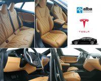 Tesla Model S Compilatiefoto Leder Nappa Interieur Diamond