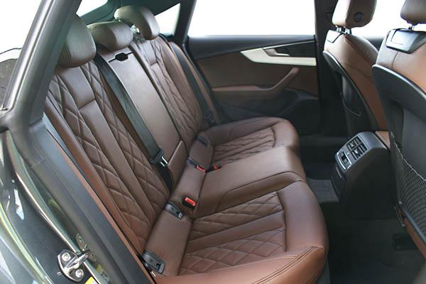 Audi A5 Sportback Alba Buffalino Leder Nougat Bruin Diamond Achterbank