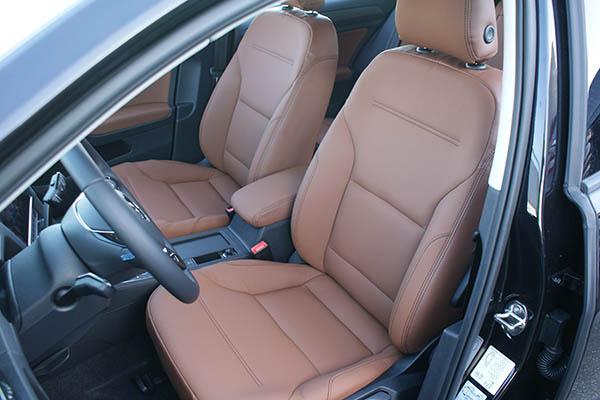 Volkswagen e-Golf Alba eco-leather kaneel bruin voorstoel