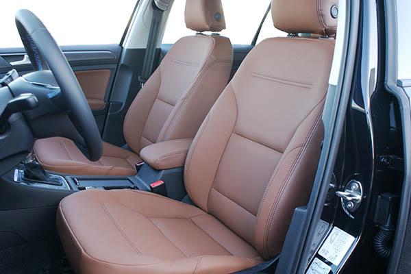 Volkswagen e-Golf Alba eco-leather kaneel bruin voorstoelen