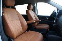 Mercedes Benz Vito Alba eco-nappa cognac met diamond stiksel voorstoelen