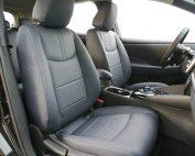 Nissan Leaf Alba Buffalino Leder Marine Blauw Interieur Voorstoelen