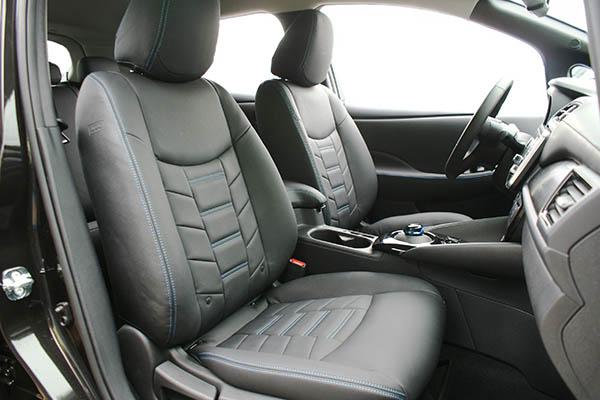 Nissan Leaf Alba eco-leather Zwart Interieur Special Design Voorstoelen