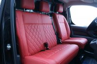 Peugeot Expert 3-zits Alba Buffalino Leder Inbouw Rood Diamond