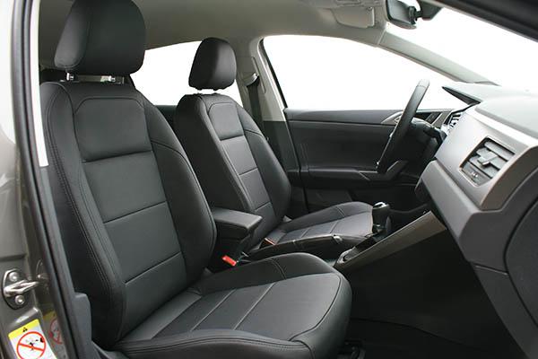 Volkswagen Polo 2018 Alba Buffalino Leder Zwart Interieur Inbouw Voorstoelen