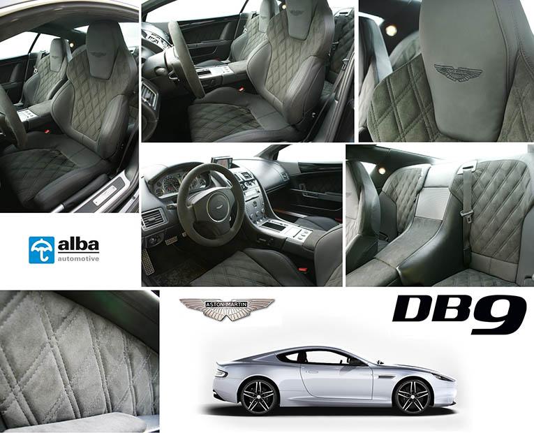 Aston Martin DB9 Alba Interieur Nappa Leder Alcantara Zwart Diamond Dubbel