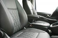 Mercedes Benz Vito Alba eco-nappa Zwart leder interieur inbouw Diamond Voorstoelen