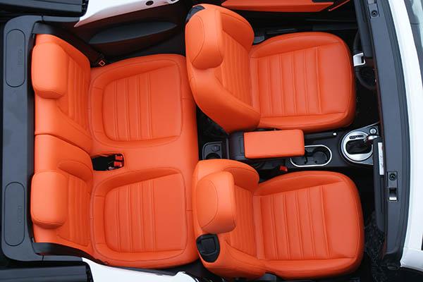 Volkswagen Beetle Cabriolet Alba Royal Mandarin Exclusive Leder Inbouw