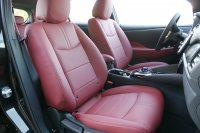 Nissan Leaf Alba Buffalino Leder Bordeaux Rood Voorstoelen
