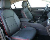 Opel Insignia Alba Zwart Leder met Rode bies en stiksel Voorstoelen