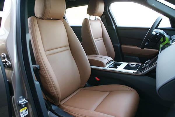 Range Rover Velar Alba Buffalino Leder Truffel Bruin Voorstoelen