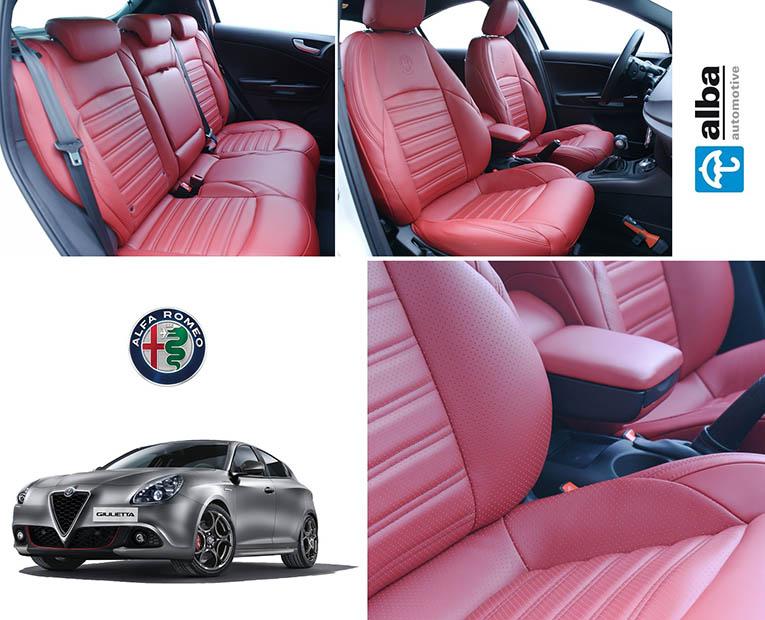 Alfa Romeo Giulietta Alba Rood Nappa Leder Inbouw Compilatie foto
