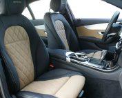 Mercedes Benz C-Klasse W205 Alba eco-leather Zwart Beige Diamond Logo Voorstoelen