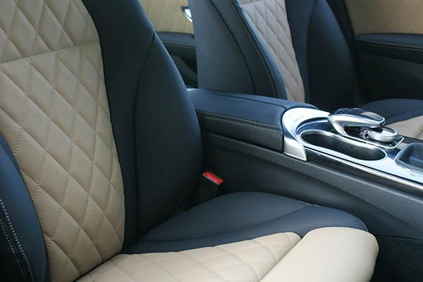 Mercedes Benz C Klasse Alba Eco Leather Zwart Met Beige En Diamond