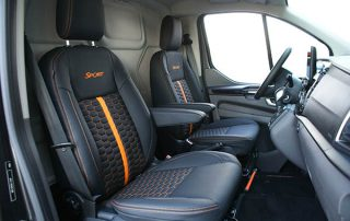 Ford Transit Custom Alba Eco-leather Zwart Honingraat Voorstoelen