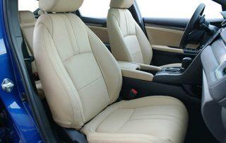 Honda Civic 2018 Alba Samt Beige Buffalino Leder Inbouw Interieur Voorstoelen