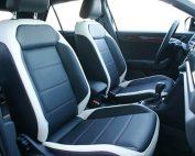 VW T-Roc Alba Buffalino Leder Zwart met Wit Voorstoelen