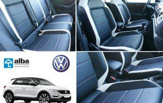Volkswagen T-Roc Sport Alba Buffalino Leder Zwart Wit